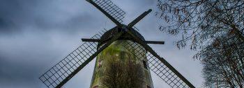 wiatrak z urwaną łopatą