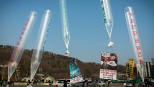balony startujące do Korei Północnej
